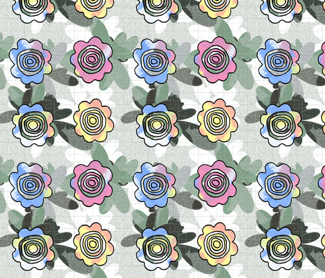 Flower-Power-1 fabric by kiwi_krafter on Spoonflower - custom fabric