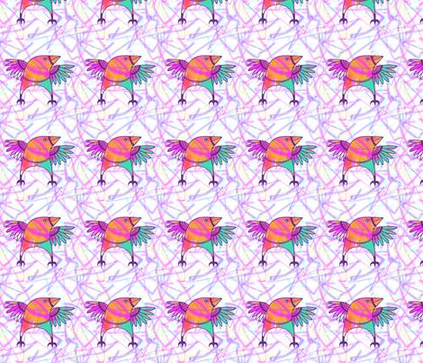 Thrush-in-a-Rush-9 fabric by kiwi_krafter on Spoonflower - custom fabric