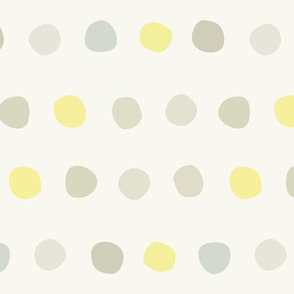 dots- spaced yellow gray
