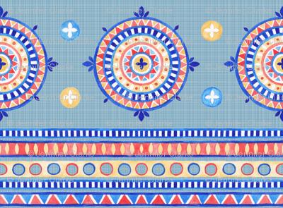 Boho Geo in blue