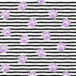 paws on stripes (purple)