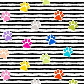 paws on stripes (multi)