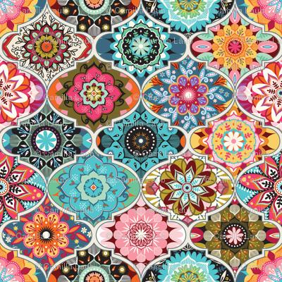 Bohemian summer fabric - camcreative - Spoonflower