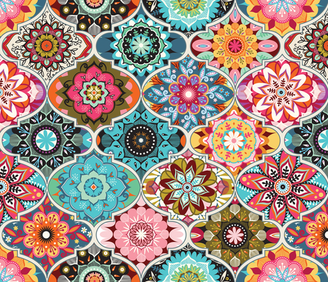 Bohemian summer fabric by camcreative on Spoonflower - custom fabric