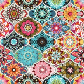 Bohemian Fabric Wallpaper Gift Wrap Spoonflower
