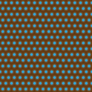 Light Blue Polka Dot on Field of Brown