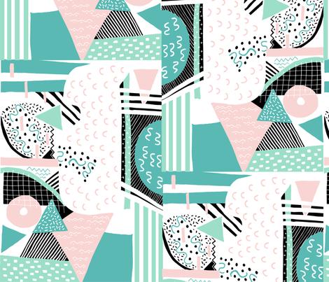 Memphis party fabric by studio_esperluette on Spoonflower - custom fabric
