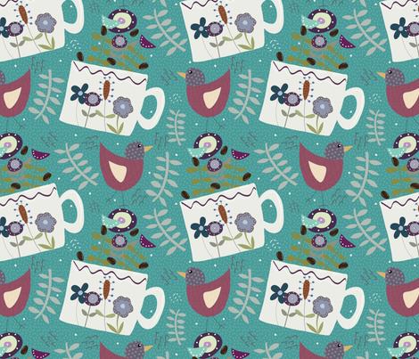 Boho Morning Coffee fabric by cathleenbronsky on Spoonflower - custom fabric