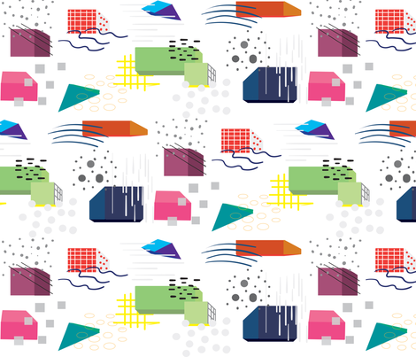 Memphis Mix fabric by casey_belle_ on Spoonflower - custom fabric