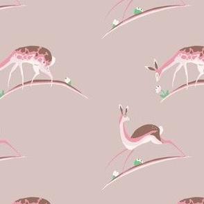 Pink Prancing Deer