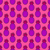 Pineapples in Purple & Pink