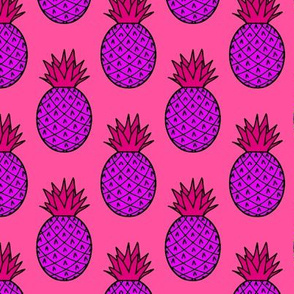 Pineapples in Purple & Pink