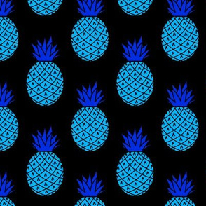 Neon Blue Pineapples