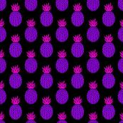 Pineapples in Neon Purple