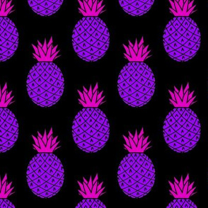 Pineapples in Neon Purple
