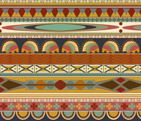 Boho Hedgehog - Porcupine fabric by aime_clark on Spoonflower - custom fabric