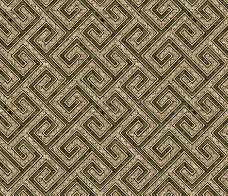 Cretan geometric fabric by hannafate on Spoonflower - custom fabric