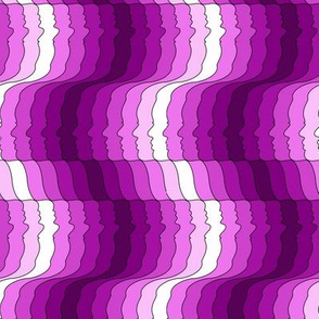 Face stripes in fuchsia