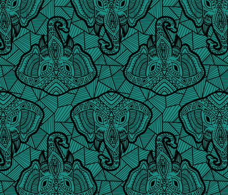 Boho Elephant fabric by annibernet on Spoonflower - custom fabric