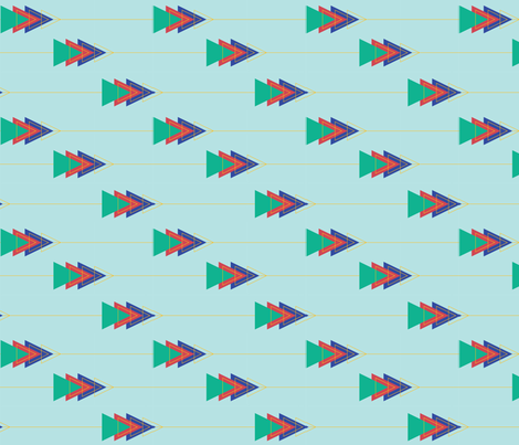 Bohemian Arrows fabric by awfully_aud on Spoonflower - custom fabric