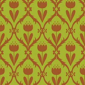 scandi tulip on olive