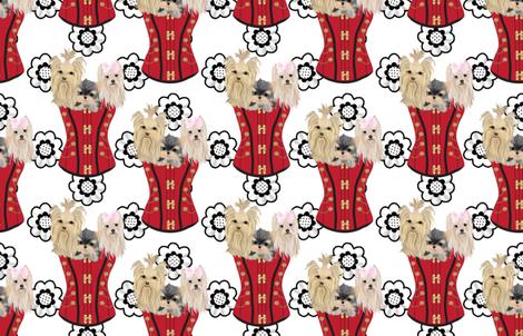 Yorkie - Fancy Steampunk fabric by sherry-savannah on Spoonflower - custom fabric