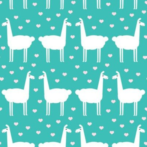 llama love - teal
