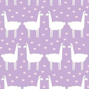 llama love - purple