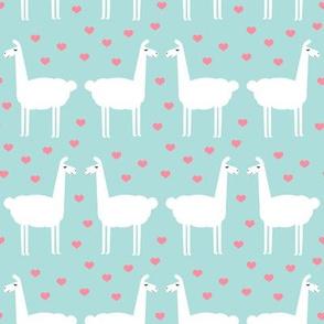 llama love - blue