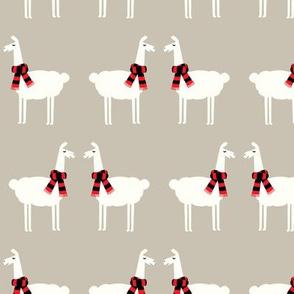 llamas - dark beige