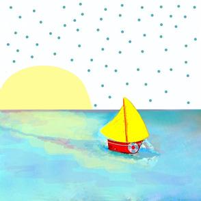 Sail Boat 18x18