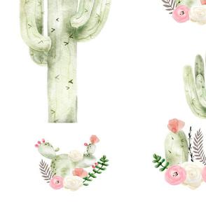 Boho Floral Cactus Large