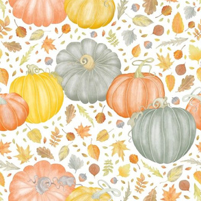 Painted_Pumpkins_and_Fallen Leaves