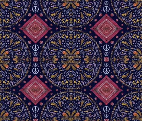 Peace fabric by ladyrattus on Spoonflower - custom fabric