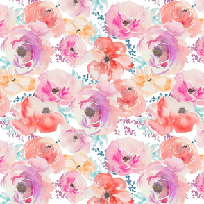 Watercolour Floral - Large Scale