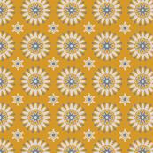 Bohemian Geometric Kaleidoscope Mustard