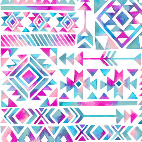 tribal summer fabric by mirabelleprint on Spoonflower - custom fabric