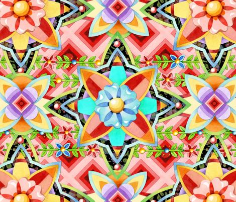 Bohemian Geometric fabric by patriciasheadesigns on Spoonflower - custom fabric