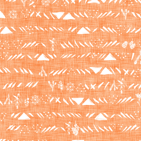 Sticks and stones (apricot) fabric by nouveau_bohemian on Spoonflower - custom fabric