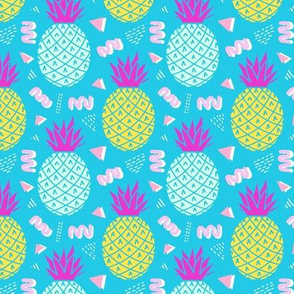 Memphis Pineapples in Blue