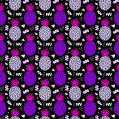 Memphis Pineapples in Purple