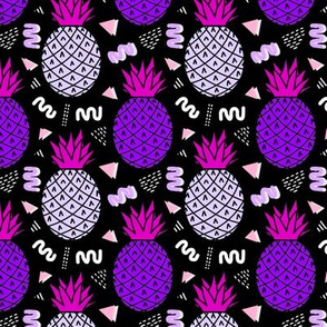 Memphis Pineapples in Purple