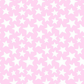 Doodle Stars on Pink
