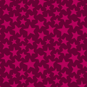 Doodle Stars in Raspberry
