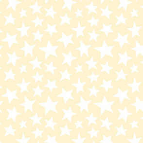 Doodle Stars on Cream