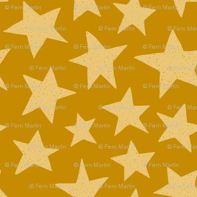 Doodle Stars on Mustard