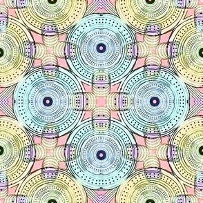 Colour Me Boho! Wheel conection /  Aqua,Blue,Pink,Purple