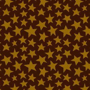 Doodle Stars on Brown