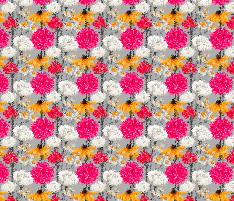 Pointillism Petals fabric by floramoon_designs on Spoonflower - custom fabric