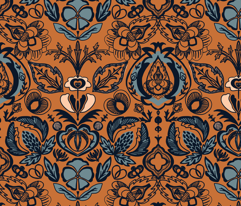 Arts and Crafts Bohemian fabric by janetdrummond on Spoonflower - custom fabric